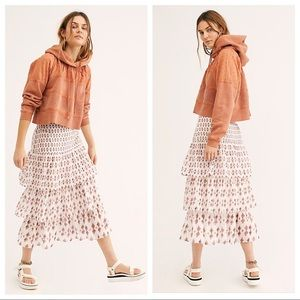 Free People Cha Cha Tiered Ruffle Skirt